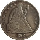 1858 Seated Liberty Dollar COINS COPY