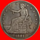 1881 Trade Dollar COIN COPY