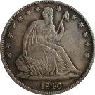 1840 Seted Liberty Half Dollar Coin Copy
