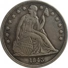 1843 Seated Liberty Dollar COINS COPY