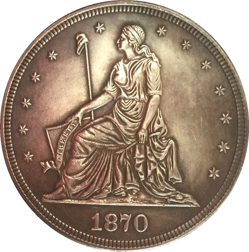 1870 United States $1 Dollar coins COPY Type 1