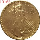 1916-S $20 St. Gaudens Coin Copy