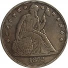 1872-CC Seated Liberty Dollar COINS COPY