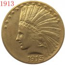 24-K gold plated 1913 $10 GOLD Indian Half Eagle Coin COPY