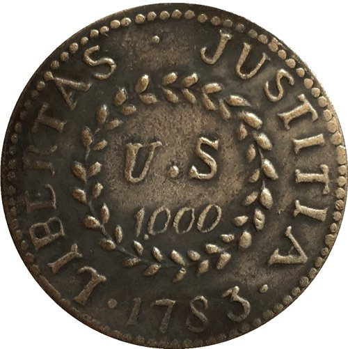 1783 USA colonial issues coins copy