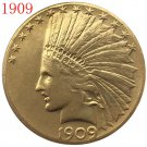 24-K gold plated 1909 $10 GOLD Indian Half Eagle Coin COPY