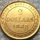 1888 Canada 2 Dollars gold coins copy