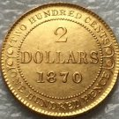 1870 Canada 2 Dollars gold coins copy