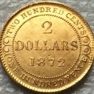 1872 Canada 2 Dollars gold coins copy