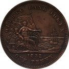 Canada 1852 1 Penny coins COPY 34.1MM