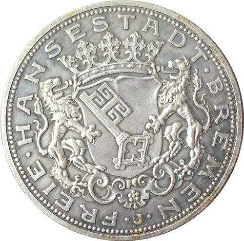 German 1906 5 Mark coin copy 38mm