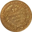24-K Gold plated 1895 Germany 10 Marks Coin COPY