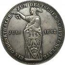 German 1862 1 Thaler coin copy 33.14mm