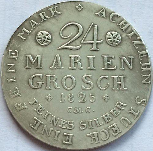 German 2/3 Thaler Karl II 1825 copy coins