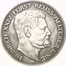 1909 German 3 Mark - Heinrich XXIV coins COPY 33MM
