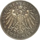 German 1904 2 Mark coin copy 28MM