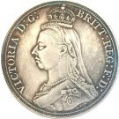 UK 1887 1 Crown - Victoria 2nd portrait copy coins