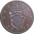Ireland George III 1/2 Penny 1776 coins copy