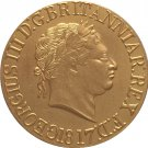 24 - K gold plated 1817 United Kingdom 1 Sovereign- George III coins copy