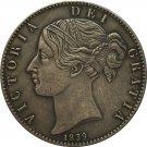 UK 1839 1 Crown - Victoria 1st portrait copy coins