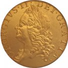 24 - K gold plated 1760 United Kingdom 1 Guinea - George II coins copy