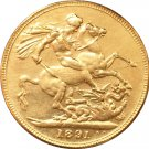 24 - K gold plated British Coins copy 1891