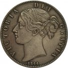 UK 1844 1 Crown - Victoria 1st portrait copy coins