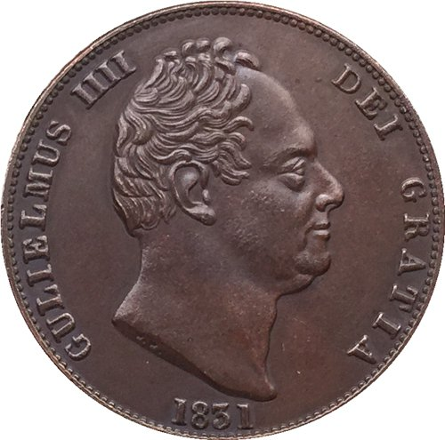 UK 1831 coin copy 28mm