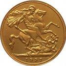 1937 United Kingdom Sovereign - George VI coins copy