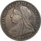 uk 1893 1 Crown - Victoria 3rd portrait copy coins