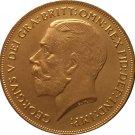 24 - K gold plated 1911 United Kingdom 2 Pounds-George V copy coins
