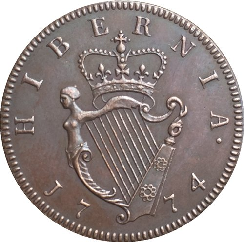 Ireland George III 1/2 Penny 1774 coins copy