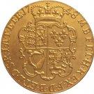 24 - K gold plated 1748 United Kingdom 1 Guinea- George II coins copy