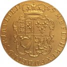 24 - K gold plated 1749 United Kingdom 1 Guinea- George II coins copy