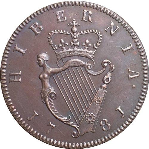 Ireland George III 1/2 Penny 1781 coins copy