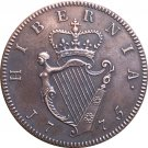 Ireland George III 1/2 Penny 1775 coins copy