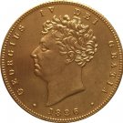 24 - K gold plated 1826 United Kingdom 2 Pounds-George IV copy coins