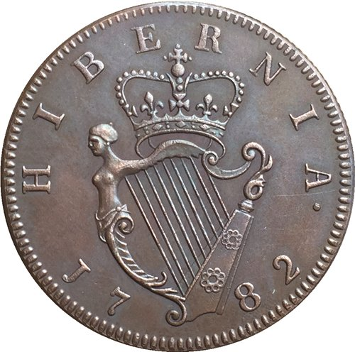 Ireland George III 1/2 Penny 1782 coins copy