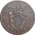 Ireland George III 1/2 Penny 1782 coins copy