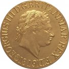 24 - K gold plated 1819 United Kingdom 1 Sovereign- George III coins copy