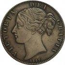 UK 1847 1 Crown - Victoria 1st portrait copy coins