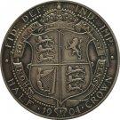 United Kingdom 1904 1/2 Crown- Edward VII copy coins