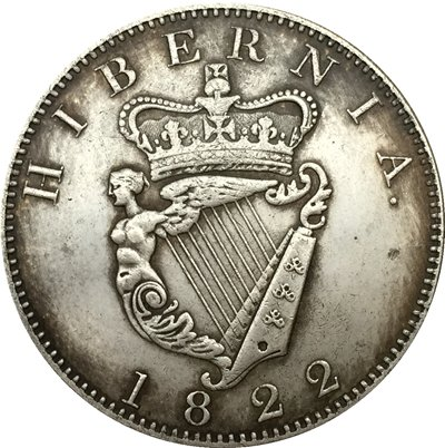 Ireland 1 Penny - George IV 1822 coins copy