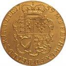 24 - K gold plated 1759 United Kingdom 1 Guinea- George II coins copy