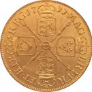 24 - K gold plated 1711 United Kingdom 1 Guinea- Anne coins copy