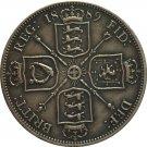 UK 1889 1 Florin - Victoria 2nd portrait copy coins