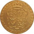 24 - K gold plated 1755 United Kingdom 1 Guinea- George II coins copy
