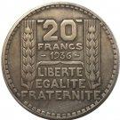 1936 FRANCE 20 F COIN COPY