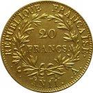France 20 Francs - Napoleon I 1802 coins copy
