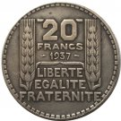 1937 FRANCE 20 F COIN COPY